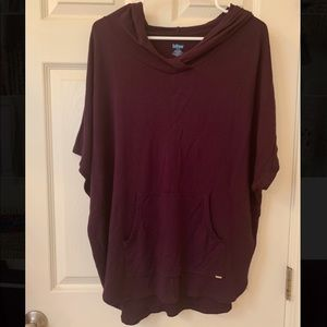 Bliss women's hooded pull-over t-shirt in eggplant
